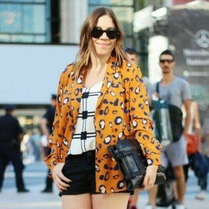3.1 Phillip Lim Target Leopard Print Jacket Blazer